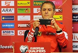 08.10.2015, Gradski Stadion, Podgorica, MNE, UEFA Euro Qualifikation, Montenegro vs Oesterreich, Gruppe G, Training, im Bild Koller coach // during Training before the UEFA EURO 2016 qualifier group G match between Montenegro and Austria at the Gradski Stadion in Podgorica, Montenegro on 2015/10/08. EXPA Pictures © 2015, PhotoCredit: EXPA/ Risto Bozovic