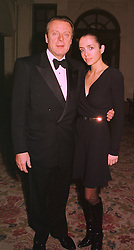 MR RICARDO MAZZUCHELLI former husband of Ivana Trump and MISS GISELE ROMAN, at a dinner in london on 15th December 1998.MNA 54