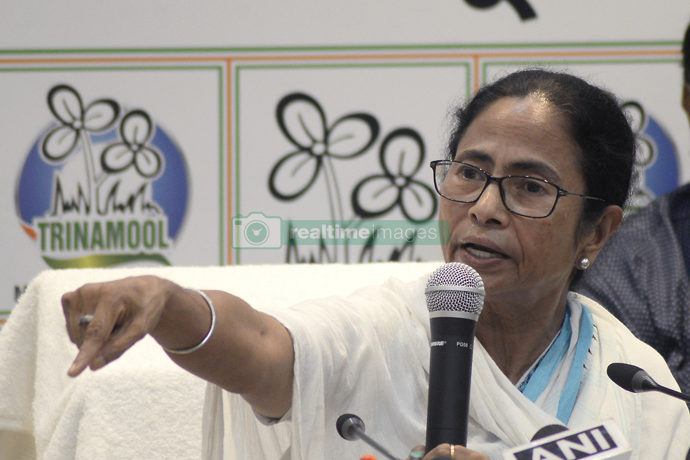May 25, 2019 - Kolkata, West Bengal, India - West Bengal Chief Minister and Trinamool congress and TMC supremo Mamata Banerjee inter act with media at the end of Trinamool Congress or TMC Lok Sabha election review meeting. (Credit Image: © Saikat Paul/Pacific Press via ZUMA Wire)