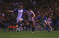 Photo: Steve Bond.<br />Birmingham City v Sunderland. The FA Barclays Premiership. 15/08/2007. Sebastian Larsson (L) challanges Ross wallace (C)