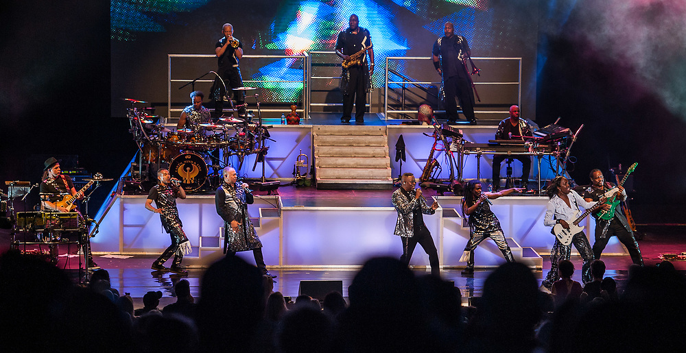 Earth, Wind and Fire performing at Pacific Amphitheatre on July 27, 2018.  (Photo By Miguel Vasconcellos, OC Fair & Event Center)