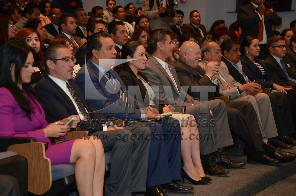 Toluca, México (Abril 28, 2016).- Inauguro José Manzur Quiroga Secretario de Gobierno el Espacio de Participación para la Construcción del Programa de Derechos Humanos del Estado de México.  Agencia MVT / José Hernández.