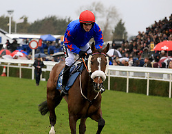 Kilkishen ridden by Daniel Mullins during the Marstons 61 Deep Midlands Grand National race at Uttoxeter Racecourse.