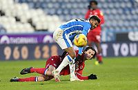 Reading's Tom McIntyre vies for possession with  Huddersfield Town's Fraizer Campbell<br /> <br /> Photographer Rich Linley/CameraSport<br /> <br /> The EFL Sky Bet Championship - Saturday 2nd January 2021 - Huddersfield Town v Reading - The John Smith's Stadium - Huddersfield<br /> <br /> World Copyright © 2020 CameraSport. All rights reserved. 43 Linden Ave. Countesthorpe. Leicester. England. LE8 5PG - Tel: +44 (0) 116 277 4147 - admin@camerasport.com - www.camerasport.com