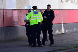 © Licensed to London News Pictures. 24/03/2019. LONDON, UK.  Police attend an address at Marsh Road, Pinner, north west London, after being called at approximately 06:00hrs on 24 March to reports of a man found suffering injuries from a reported stabbing.  He was pronounced dead at the scene by officers and London Ambulance Service.  Enquiries are ongoing, no arrests have yet been made.  Photo credit: Stephen Chung/LNP