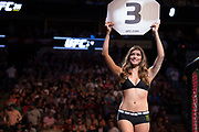 DALLAS, TX - MAY 13:  An Octagon Girl during UFC 211 at the American Airlines Center on May 13, 2017 in Dallas, Texas. (Photo by Cooper Neill/Zuffa LLC/Zuffa LLC via Getty Images) *** Local Caption ***