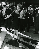 1965 Debbie Reynolds' hand and footprint ceremony at the Chinese Theatre