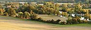 Autumn Evening over Mapledurham House and Weir, River Thames, Berkshire, Uk