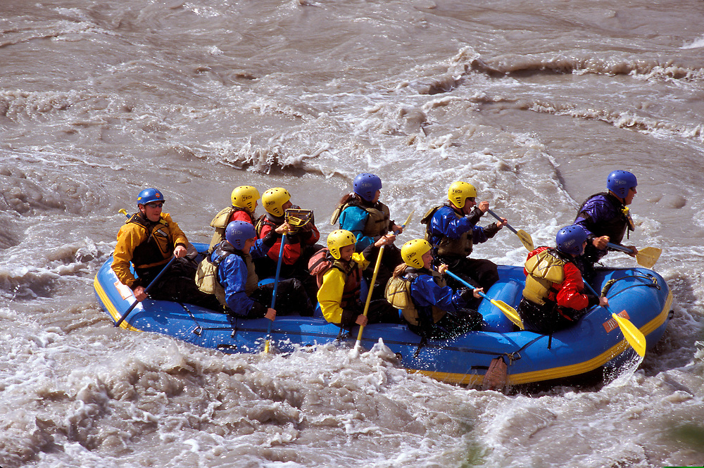 Denali. Alaska. White water rafting, class 3, on Denali River.