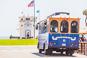 Laguna Trolley on Ocean Ave and PCH
