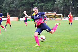 Tjasa Tibaut of ZNK Pomurje during the UEFA Women's Champions League Qualifying Match between ZNK Teleing Pomurje (SLO) and Olimpia Cluj (ROU) at Sportni Park on August 16, 2015 in Beltinci, Slovenia. Photo by Mario Horvat / Sportida