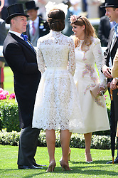 The Duchess of Cambridge (centre) during day one of Royal Ascot at Ascot Racecourse, London