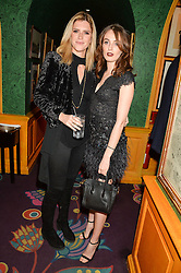 Left to right, ANNABEL SIMPSON and LADY VIOLET MANNERS at the 2nd Bright Young Things Back In London party held at Annabel's, 44 Berkeley Square, London on 11th February 2016.