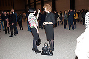 ALICE RAWTHORNE; JULIA PEYTON-JONES; , Ai Weiwei Unilever series opening. Tate Modern. 11 October 2010. -DO NOT ARCHIVE-© Copyright Photograph by Dafydd Jones. 248 Clapham Rd. London SW9 0PZ. Tel 0207 820 0771. www.dafjones.com.