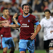 Trabzonspor's Zeki Yavru during their Turkish Superleague soccer derby match Besiktas between Trabzonspor at the Inonu Stadium at Dolmabahce in Istanbul Turkey on Sunday, 21 October 2012. Photo by Aykut AKICI/TURKPIX