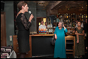ALEXANDRA PRINGLE; LYNN BARBER, Lynn Barber celebrates her 70th birthday and the publiction of ' A Curious Career. Hixter, 9a Devonshire Sq. London. 8 May 2014.