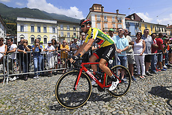 June 15, 2017 - Locarno / La Punt, Suisse - CARUSO Damiano (ITA) Rider of BMC Racing Team during stage 6 of the Tour de Suisse cycling race, a stage of 166 kms between Locarno and La Punt on June 15, 2017 in La Punt, Switserland, 15/06/2017 (Credit Image: © Panoramic via ZUMA Press)