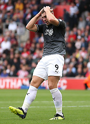 Burnley's Sam Vokes rues a missed chance
