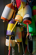 Image of buoys in Bar Harbor on Mount Desert Island in Maine, American Northeast by Randy Wells