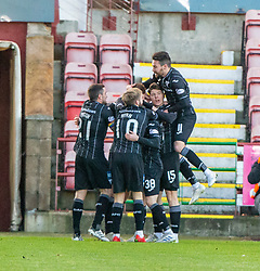 Dunfermline's Lewis Martin celebrates after scoring their second goal. Dunfermline 5 v 1 Partick Thistle, Scottish Championship game played 30/11/2019 at Dunfermline's home ground, East End Park.