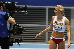 07.03.2014, Ergo Arena, Sopot, POL, IAAF, Leichtathletik Indoor WM, Sopot 2014, Tag 1, im Bild Angelika Cichocka (POL) // Angelika Cichocka (POL) during day one of IAAF World Indoor Championships Sopot 2014 at the Ergo Arena in Sopot, Poland on 2014/03/07. EXPA Pictures © 2014, PhotoCredit: EXPA/ Newspix/ Tomasz Jastrzebowski<br /> <br /> *****ATTENTION - for AUT, SLO, CRO, SRB, BIH, MAZ, TUR, SUI, SWE only*****