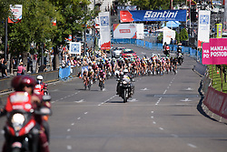 Peloton approach at Madrid Challenge by la Vuelta 2017 - a 87 km road race on September 10, 2017, in Madrid, Spain. (Photo by Sean Robinson/Velofocus.com)