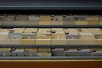 07 MAR 2002, BERLIN/GERMANY:<br /> Karteikarten der zentralen Kartei F16 im Stasiarchiv der Bundesbeauftragten fuer die Unterlagen des Staatssicherheitsdienstes der ehem. DDR, dem ehem. Zentralarchiv des Ministeriums fuer Staatssicherheit, MfS, der hem. DDR<br /> IMAGE: 20020307-01-002<br /> KEYWORDS: Stasi, Archiv,