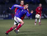 Fotball<br /> Foto: Dppi/Digitalsport<br /> NORWAY ONLY<br /> <br /> FOOTBALL - UNDER 21 - FRIENDLY GAME 2006/2007 - FRANKRIKE V SVEITS - 07/02/2007 - HATEM BEN ARFA (FRA)