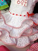 Children's flamenco-style dress, Granada, Spain.