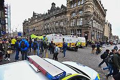 Climate protesters block City Centre, Edinburgh, 16 April 2019
