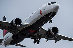 March 13, 2019 - FILE - US President Trump says his administration is grounding Boeing 737 Max planes based on new information about the crash of an Ethiopian Air Boeing 737 Max 8 aircraft.Pictured: March 12, 2019 - Richmond, British Columbia, Canada - An Air Canada Boeing 737 Max aircraft arriving from Toronto prepares to land at Vancouver International Airport in Richmond. (Credit Image: © Darryl Dyck/The Canadian Press via ZUMA Press)