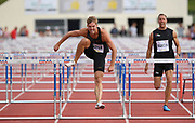 Kevin Mayer (FRA) runs 13.90 in the 110m hurdles during the decathlon at the DecaStar meeting, Saturday, June 23, 2019, in Talence, France. (Jiro Mochizuki/Image of Sport)