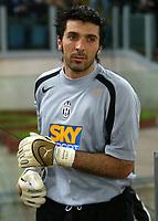 Roma 24/4/2005 Campionato Italiano Serie A<br /> Lazio Juventus 0-1<br /> Gianluigi Buffon Juventus<br /> Photo Andrea Staccioli Graffiti
