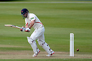 Steven Croft hits the ball during the LV County Championship Div 2 match between Gloucestershire County Cricket Club and Lancashire County Cricket Club at the Bristol County Ground, Bristol, United Kingdom on 7 June 2015. Photo by Alan Franklin.
