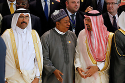September 27, 2016 - Algiers, Algeria - Saudi Energy Minister Khaled al-Faleh (R) attends the 15th International Energy Forum in Algiers on September 27, 2016, on the eve of an informal OPEC meeting the next day. Saudi Arabia's energy minister said he was optimistic that OPEC oil ministers would reach a 'common view' on the international market at their meeting in Algiers on September 28. (Credit Image: © Billal Bensalem/NurPhoto via ZUMA Press)