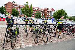 Cylists of Elkov Author Cycling Team during 1st Stage of 25th Tour de Slovenie 2018 cycling race between Lendava and Murska Sobota (159 km), on June 13, 2018 in  Slovenia. Photo by Matic Klansek Velej / Sportida