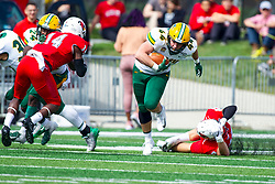 NORMAL, IL - October 05: Hunter Luepke during a college football game between the ISU (Illinois State University) Redbirds and the North Dakota State Bison on October 05 2019 at Hancock Stadium in Normal, IL. (Photo by Alan Look)
