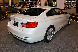 CHARLOTTE, NORTH CAROLINA - NOVEMBER 20, 2014: BMW 428i coupe on display during the 2014 Charlotte International Auto Show at the Charlotte Convention Center.