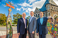 Principals of Micozzi Management photographed in Newton Center for annual report.