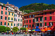 Houses and tourists, Vernazza, Cinque Terre, Liguria, Italy