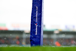 Hail falls on the pitch in the second half - Mandatory by-line: Ryan Hiscott/JMP - 15/12/2019 - RUGBY - Sandy Park - Exeter, England - Exeter Chiefs v Sale Sharks - Heineken Champions Cup