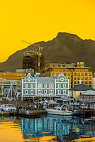 Victoria & Alfred Waterfront (Table Mountain in background), Cape Town, South Africa.