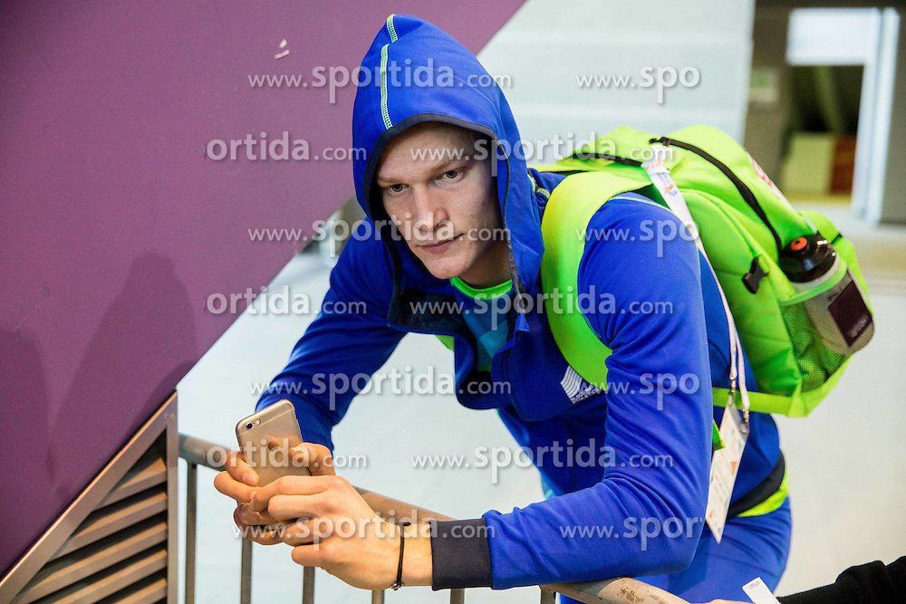 Luka Janezic of Slovenia after he was disqualified after the Men's 400 metres heats on day one of the 2017 European Athletics Indoor Championships at the Kombank Arena on March 3, 2017 in Belgrade, Serbia. Photo by Vid Ponikvar / Sportida
