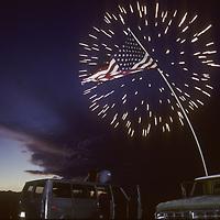 July 4 celebration over Bishop, CA.