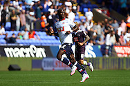 Prince Gouano of Bolton Wanderers looks on. Skybet football league championship match, Bolton Wanderers v Derby County at the Macron stadium in Bolton, Lancs on Saturday 8th August 2015.<br /> pic by Chris Stading, Andrew Orchard sports photography.