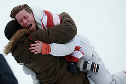 February 14, 2018 - PyeongChang, South Korea - SHAUN WHITE of USA celebrates with friend SHAUN MURDOCH after winning gold in Snowboard Men's Halfpipe Final at Phoenix Snow Park during the 2018 Pyeongchang Winter Olympic Games. (Credit Image: © Jon Gaede via ZUMA Wire)