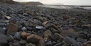 Beach sediment and wave cut platform Watchet, Somerset, England
