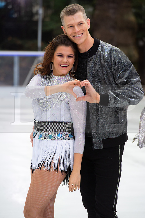 © Licensed to London News Pictures. 18/12/2018. London, UK. Hamish Gaman and Saara Aalto attends a photocall for the launch of ITV's Dancing On Ice new series. Photo credit: Ray Tang/LNP