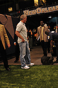 New Orleans, Louisiana, U.S. - NFL Minnesota Vikings QB BRETT FAVRE (4) gets sniffed by the security dogs as he arrives at the Louisiana Super Dome to play the World Champion New Orleans Saints Thursday. Super Bowl Champions New Orleans Saints play the Minnesota Vikings in the season opener in New Orleans Louisiana Thursday. Its the first game for Brett Favre since he was hurt last season against the Saints in the Super Dome and had ankle surgery the the first game for Reggie Bush who may have to give back his Heisman Trophy saints went on to win 14-9. ©SuziAltman.com