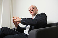09 AUG 2016, BERLIN/GERMANY:<br /> Josef Janning, Head of office und Senior Policy Fellow, European Council on Foreign Relations, waehrend einem Interview, ECFR Berlin Office<br /> IMAGE: 20160809-01-030